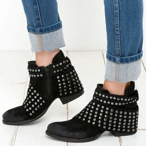 MATISSE Reno Black Suede Studded Ankle Boots 7.5